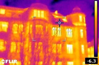 Thermografie zeigt Wärmeverluste